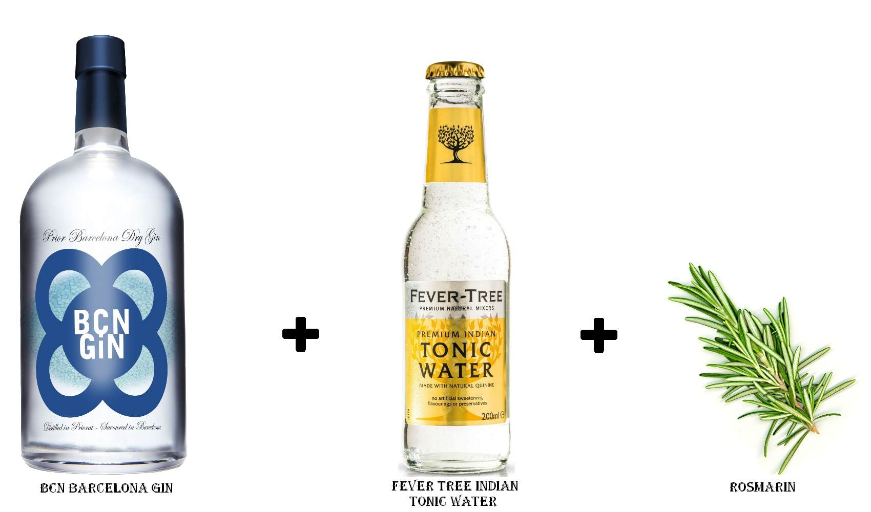 BCN Barcelona Gin + Fever Tree Indian Tonic Water +  Rosmarin