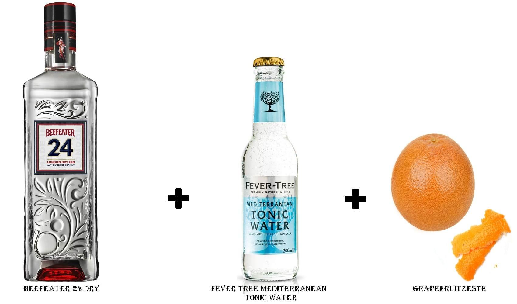 Beefeater 24 Dry + Fever Tree Mediterranean Tonic Water +  Grapefruitzeste