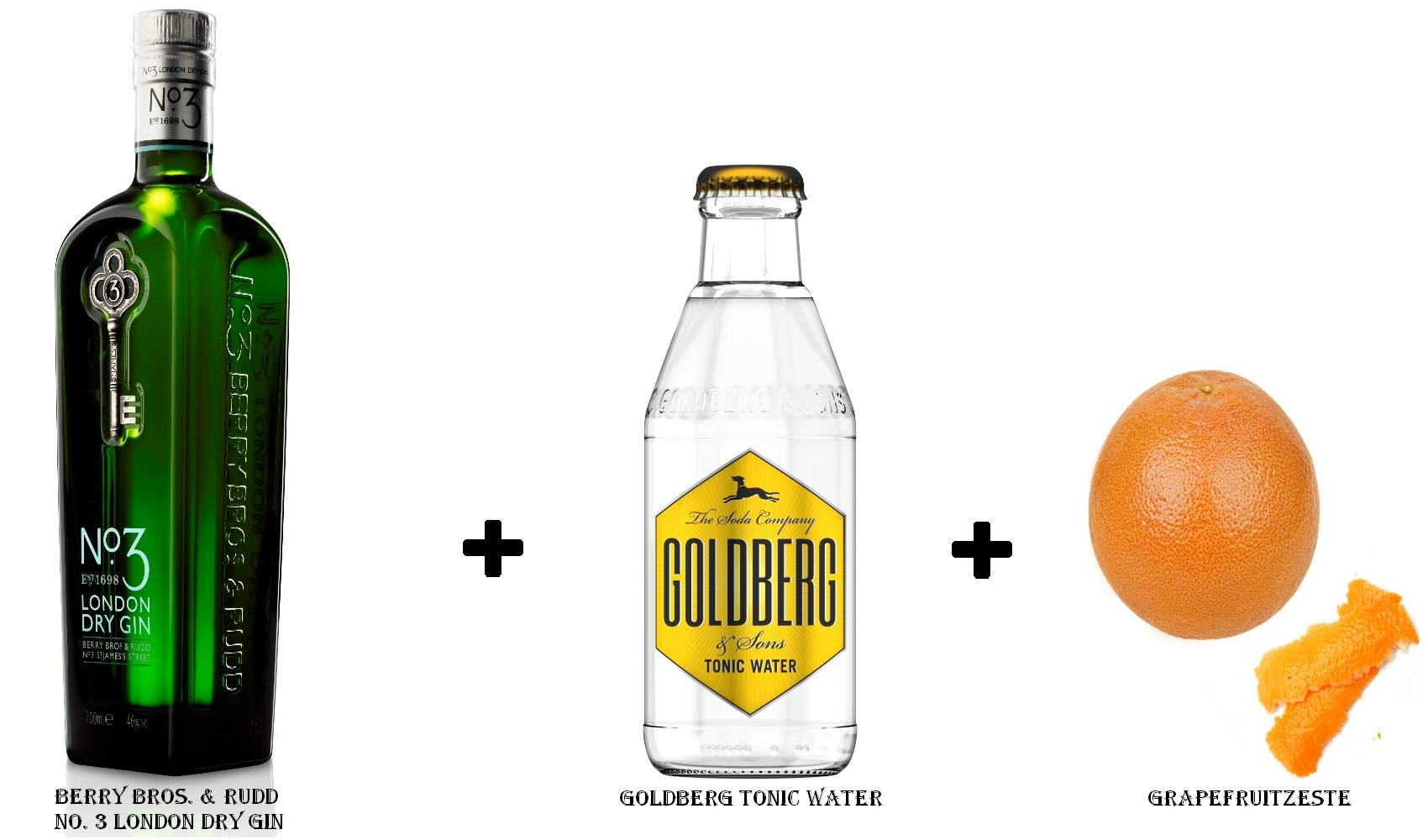 Berry Bros. & Rudd No. 3 London Dry Gin + Goldberg Tonic Water + Grapefruitzeste