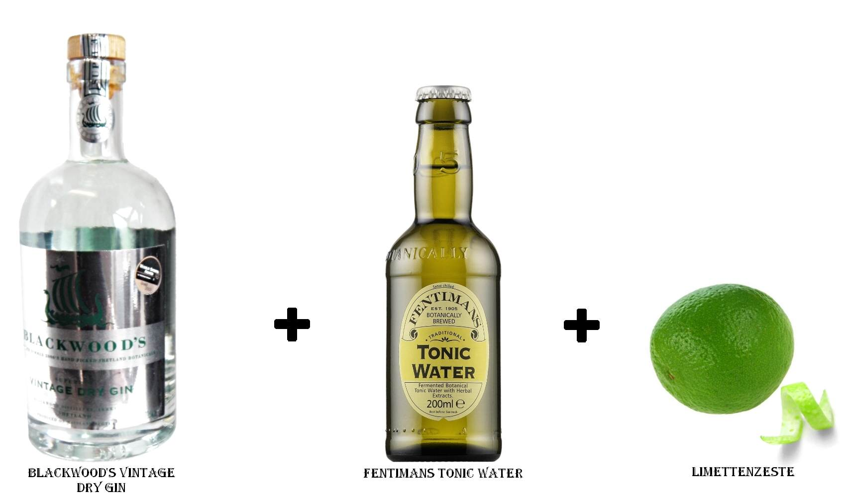 Blackwood's Vintage Dry Gin + Fentimans Tonic Water + Limettenzeste