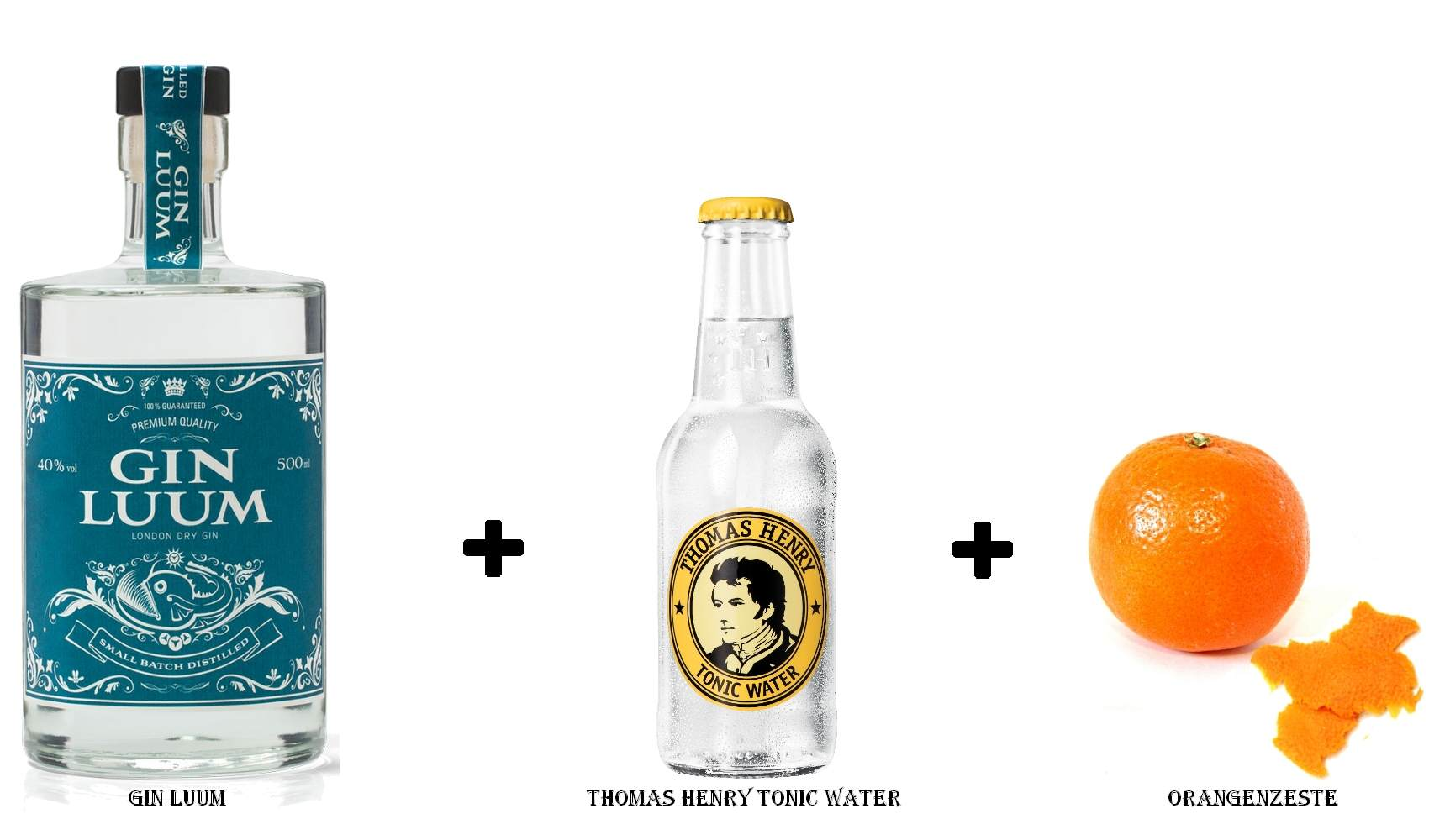 Gin Luum + Thomas Henry Tonic Water + Orangennzeste