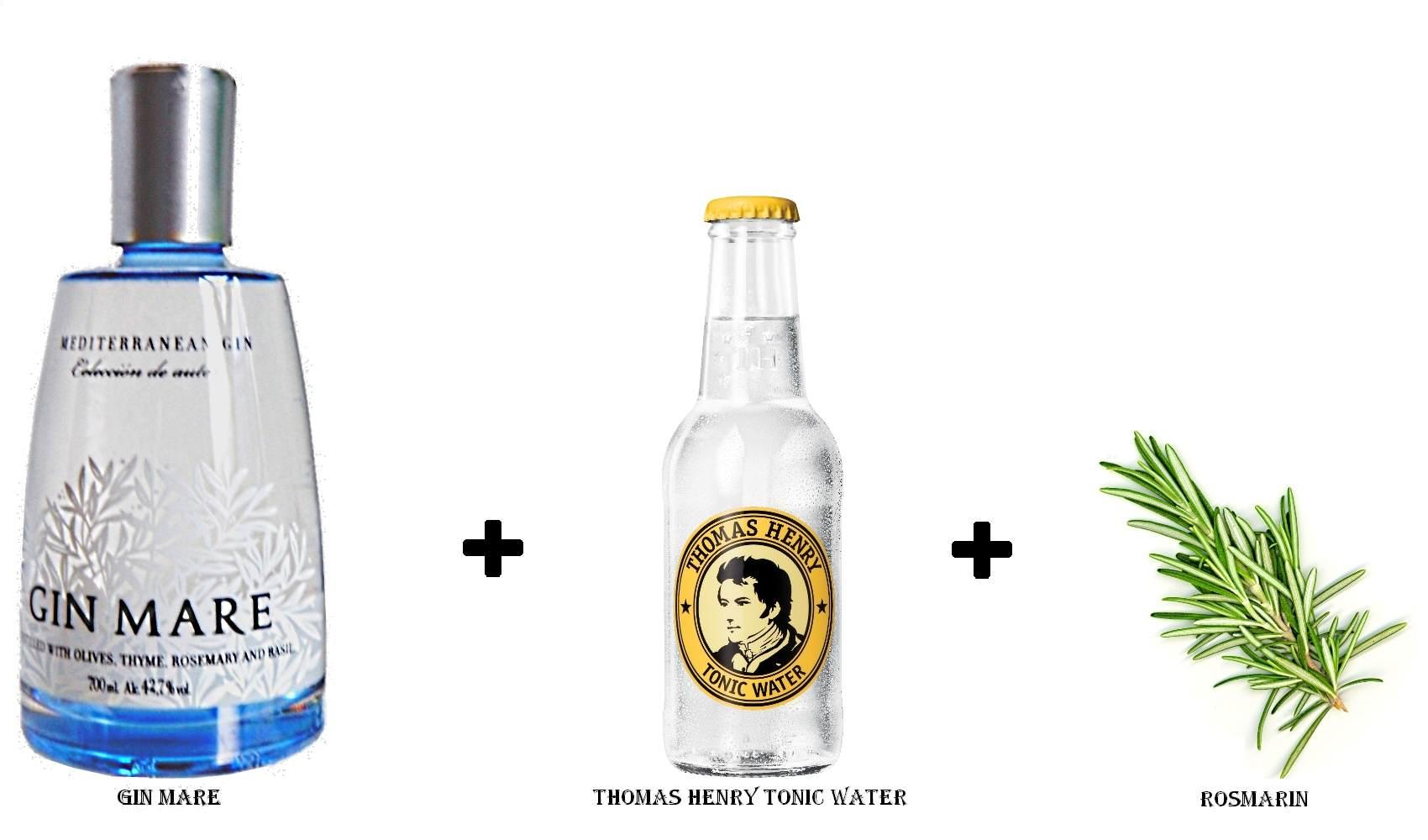 Gin Mare + Thomas Henry Tonic Water + Rosmarin