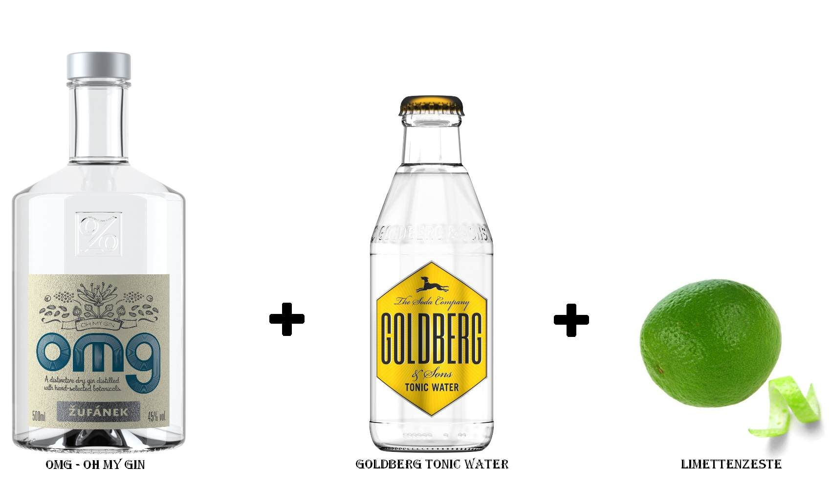 OMG - Oh My Gin + Goldberg Tonic Water + Limettenzeste