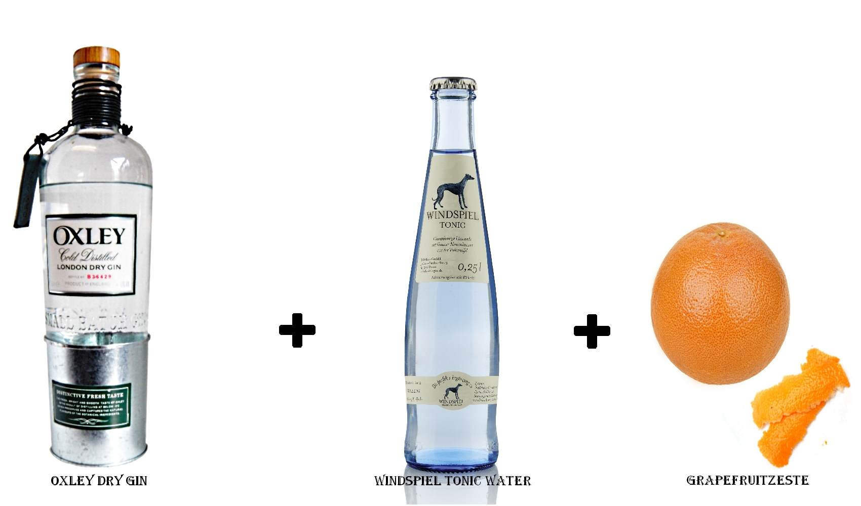 Oxley Dry Gin + Windspiel Tonic Water + Grapefruitzeste