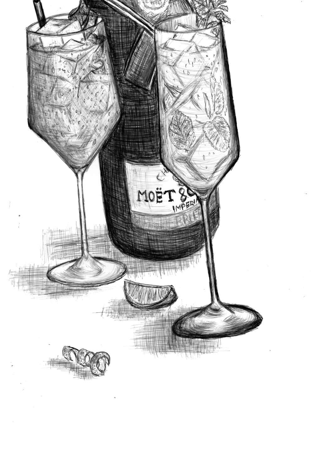 Sektcocktails, Champagnercocktails