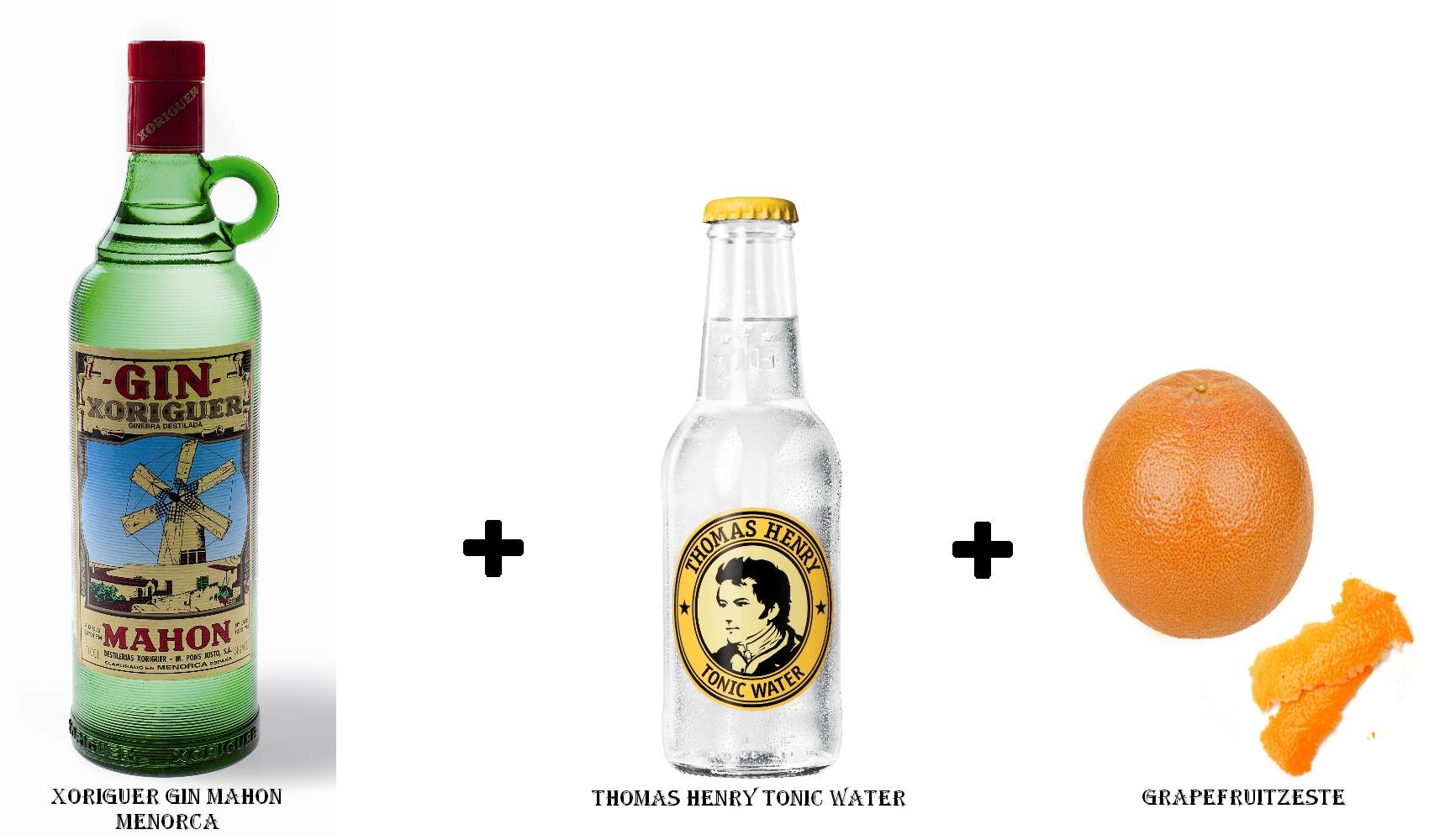 Xoriguer Gin Mahon Menorca + Thomas Henry Tonic Water + Grapefruitzeste