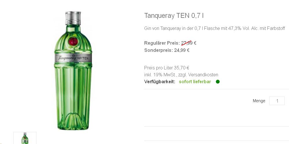 Tanqueray TEN 0,7 l