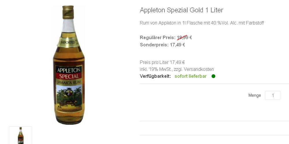 Appleton Spezial Gold 1 Liter