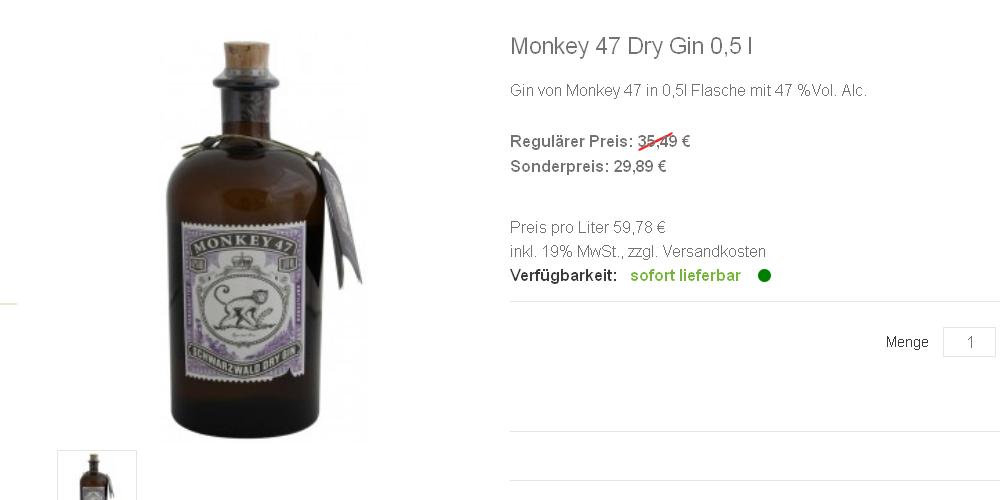 Monkey 47 Dry Gin 0,5 l